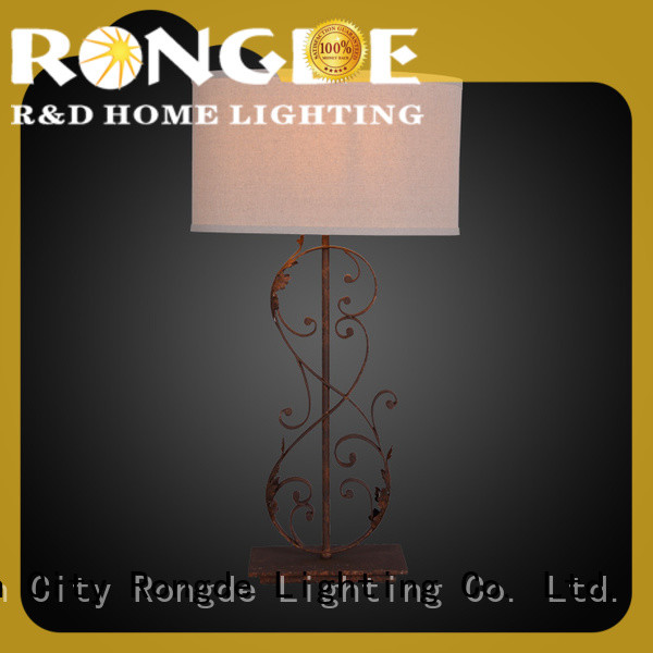 Rongde rust table lamp for business